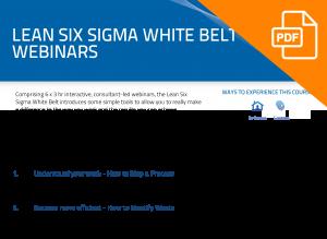 FLYER: Lean Six Sigma White Belt Webinars