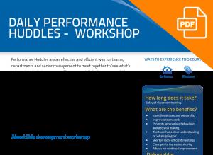 FLYER: Daily Performance Huddle Workshops