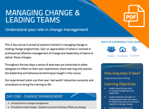FLYER: Managing Change and Leading Teams