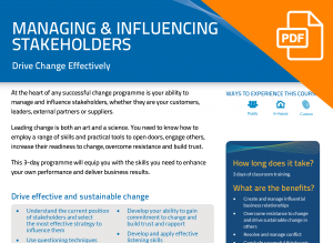 FLYER: Managing and Influencing Stakeholders