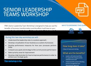 FLYER: Senior Leadership Team Workshop