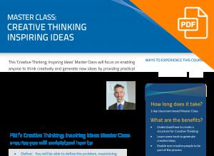 FLYER: Master Class: Creative Thinking; Inspiring Ideas