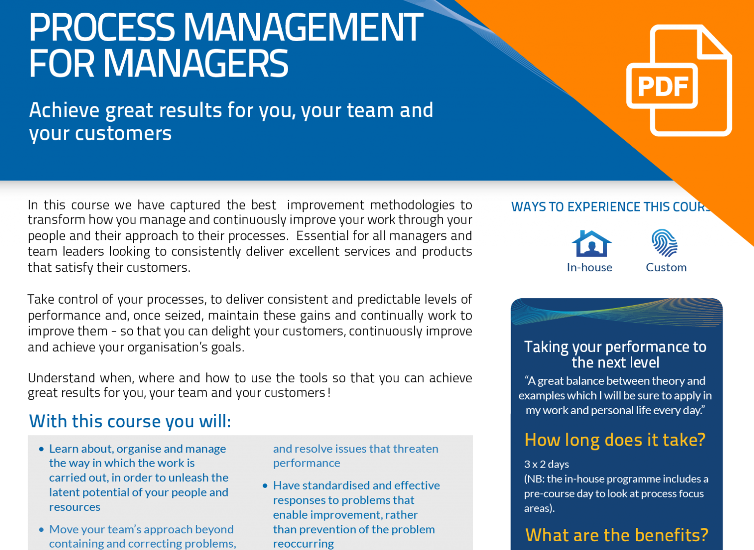 FLYER: Process Management for Managers