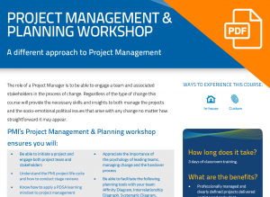 FLYER: Project Management & Planning Workshop