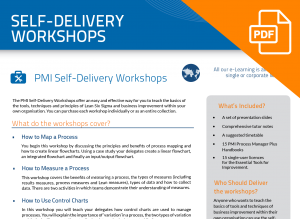 FLYER: Self delivery workshops
