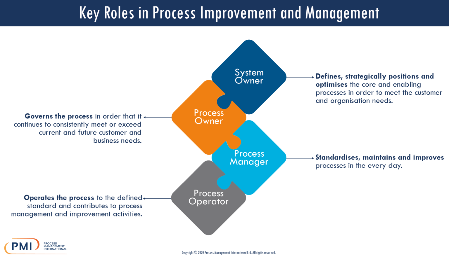 Key Roles in Process Management and Improvement Infographic