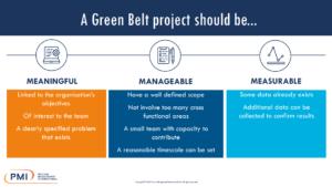 A Green Belt Project Should Be…