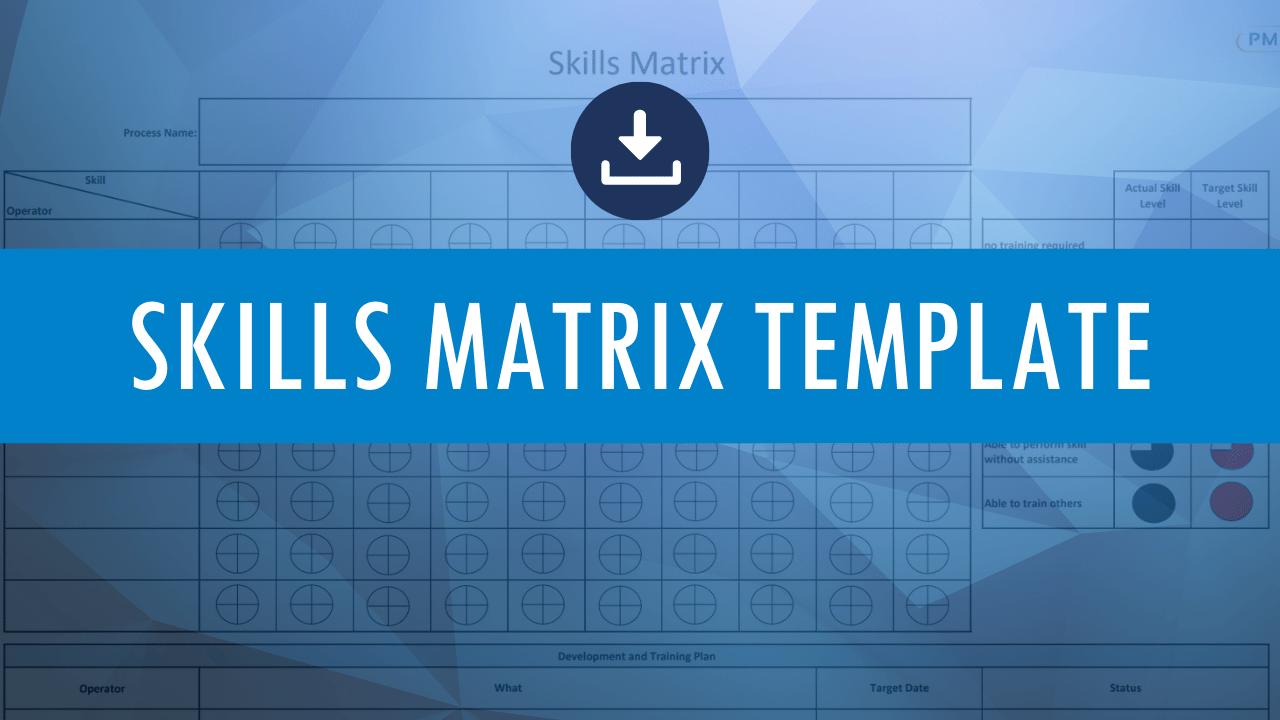 Skills Matrix Template Download